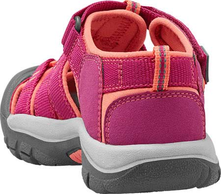 Children's Keen Newport H2 Sandal, Very Berry/Fusion Coral, large, image 4