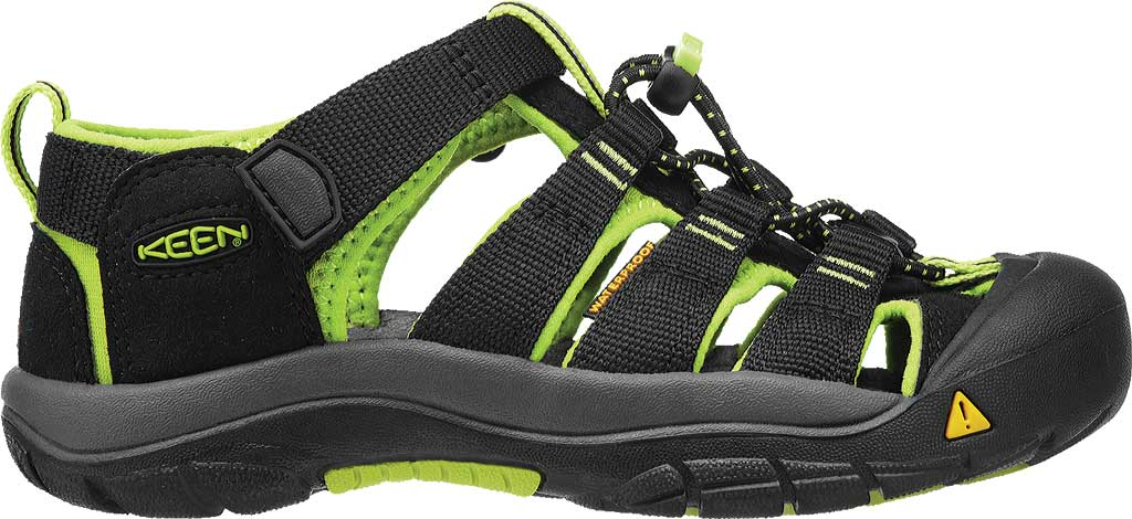 Infant Keen Newport H2 Sandal, Black/Lime Green, large, image 2