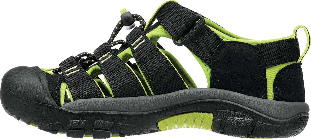 Infant Keen Newport H2 Sandal, Black/Lime Green, large, image 3