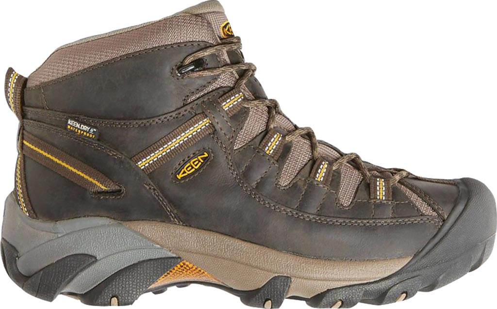 Men's Keen Targhee II Mid Hiking Boot, Black Olive/Yellow, large, image 2