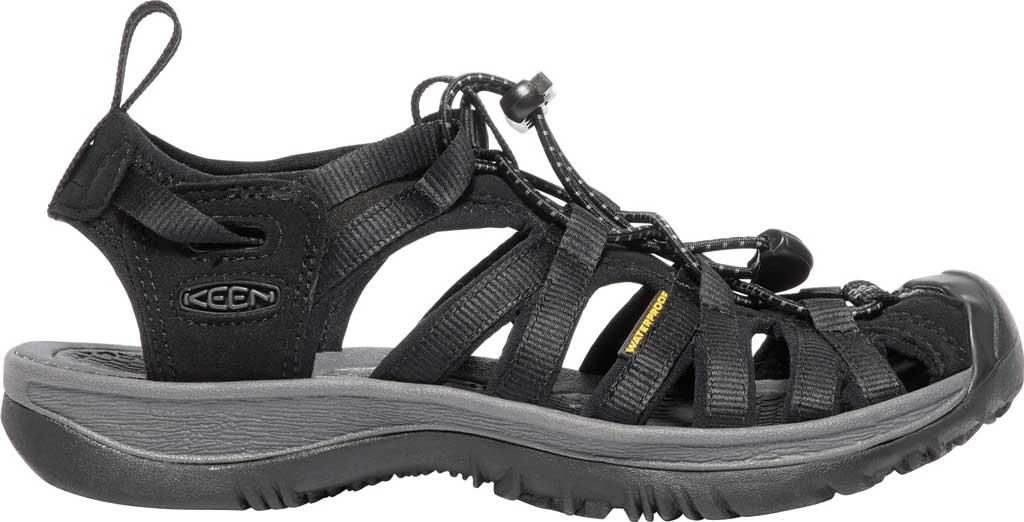 Women's KEEN Whisper Sandal, Black/Magnet, large, image 2