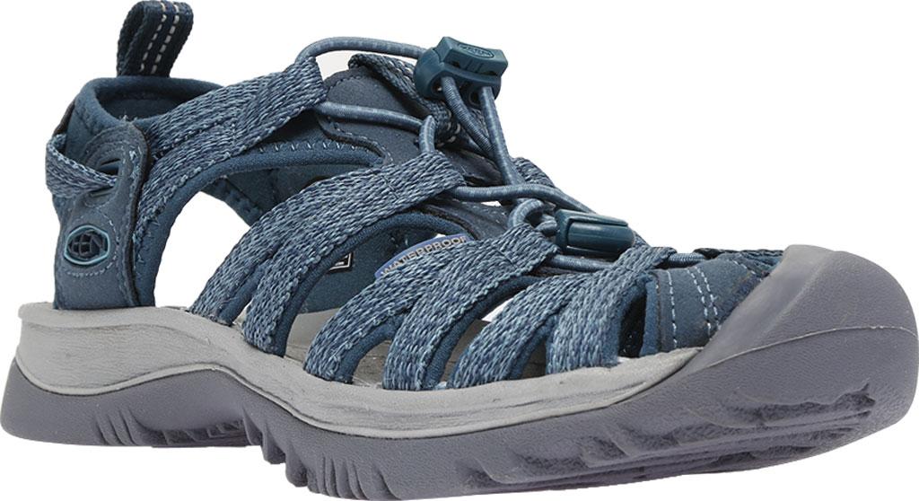 Women's KEEN Whisper Sandal, Smoke Blue, large, image 1
