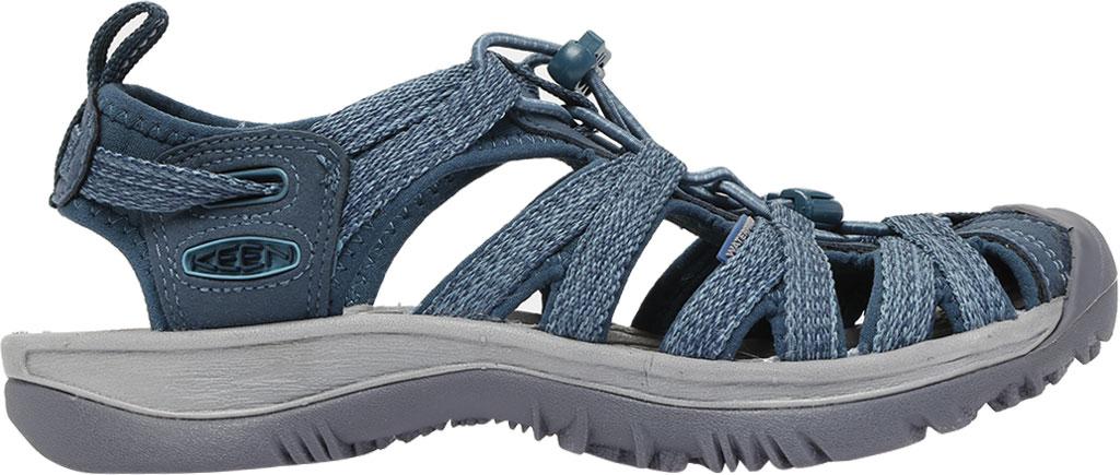 Women's KEEN Whisper Sandal, Smoke Blue, large, image 2