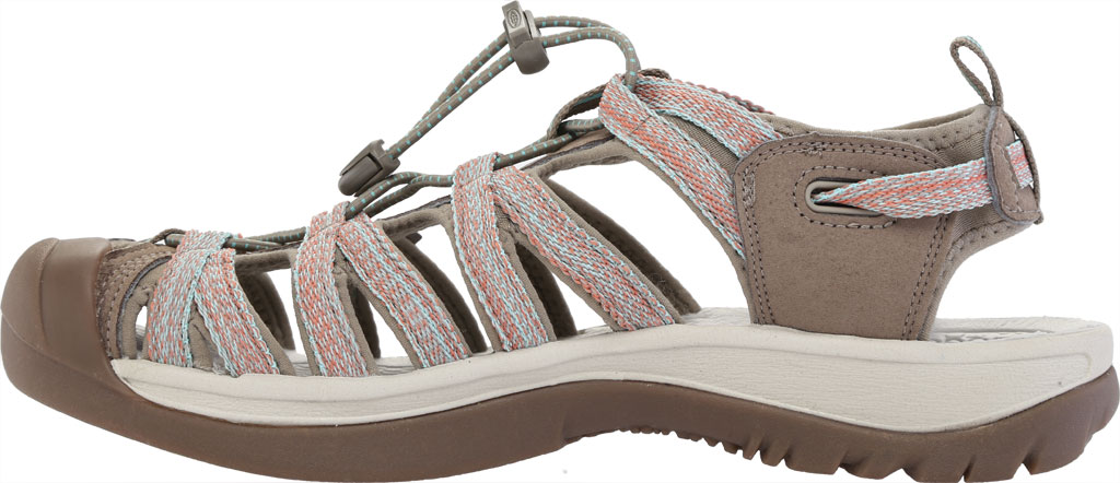 Women's Keen Whisper Sandal, Taupe/Coral, large, image 3