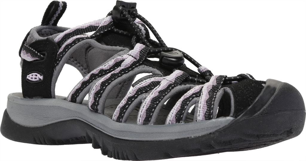 Women's KEEN Whisper Sandal, Black/Thistle, large, image 1