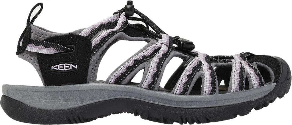 Women's KEEN Whisper Sandal, Black/Thistle, large, image 2
