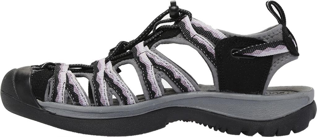 Women's KEEN Whisper Sandal, Black/Thistle, large, image 3