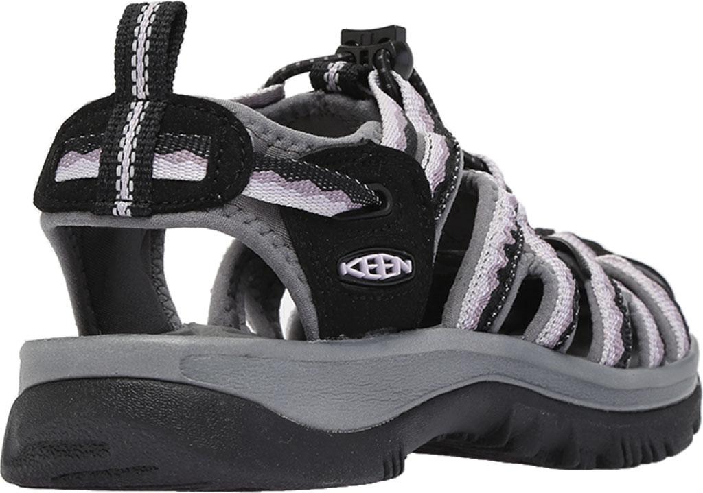 Women's KEEN Whisper Sandal, Black/Thistle, large, image 4