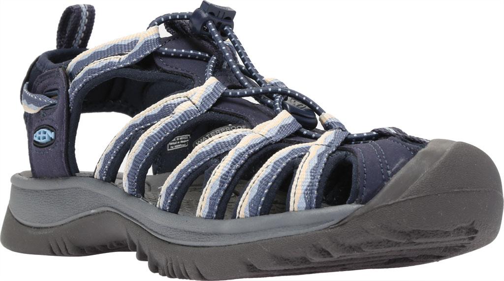 Women's KEEN Whisper Sandal, Navy/Blue Fog, large, image 1