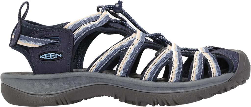Women's KEEN Whisper Sandal, Navy/Blue Fog, large, image 2