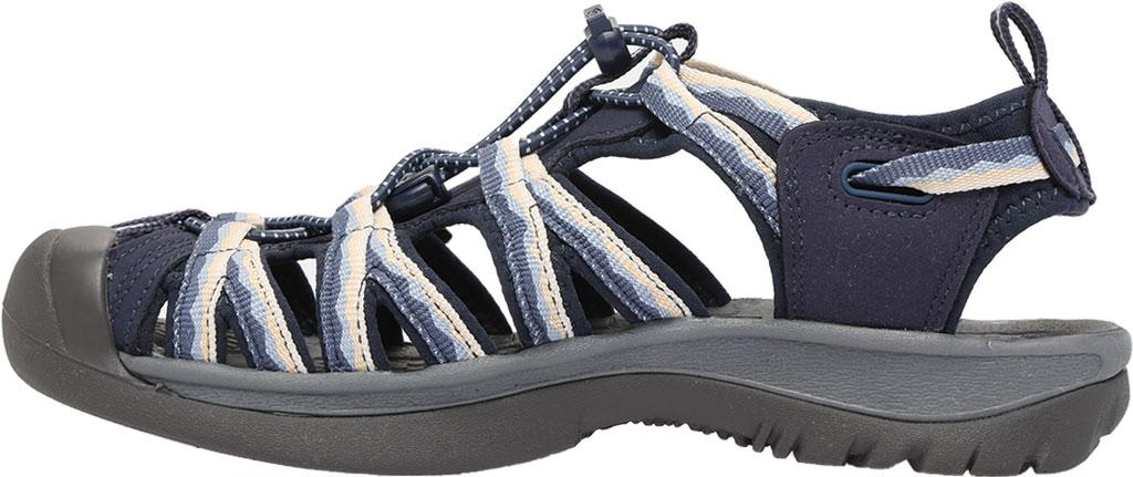 Women's KEEN Whisper Sandal, Navy/Blue Fog, large, image 3