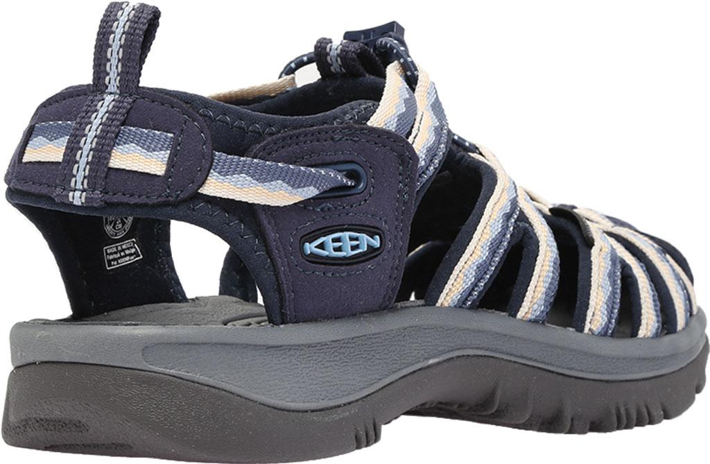 Women's KEEN Whisper Sandal, Navy/Blue Fog, large, image 4