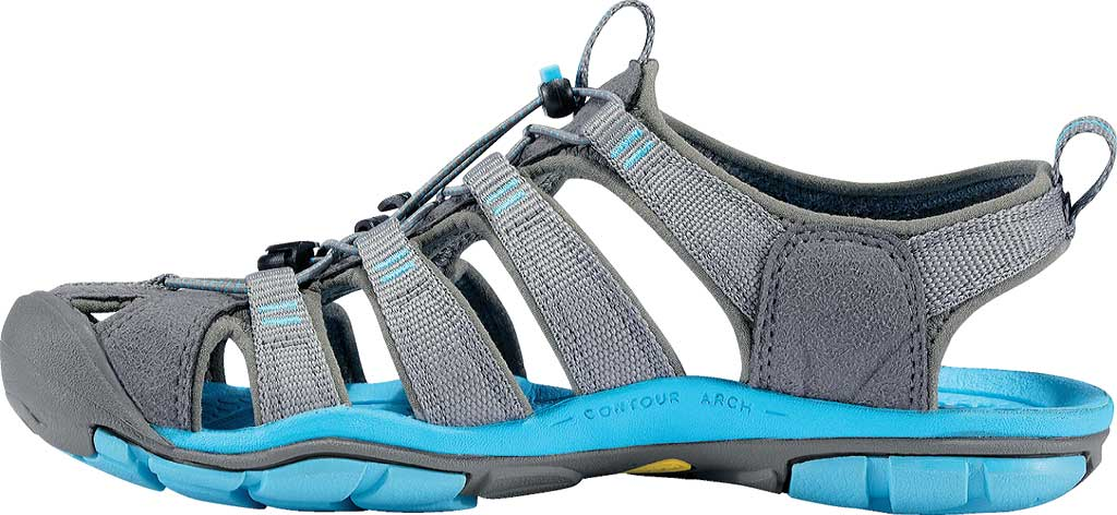 Women's KEEN Clearwater CNX, Gargoyle/Norse Blue, large, image 3
