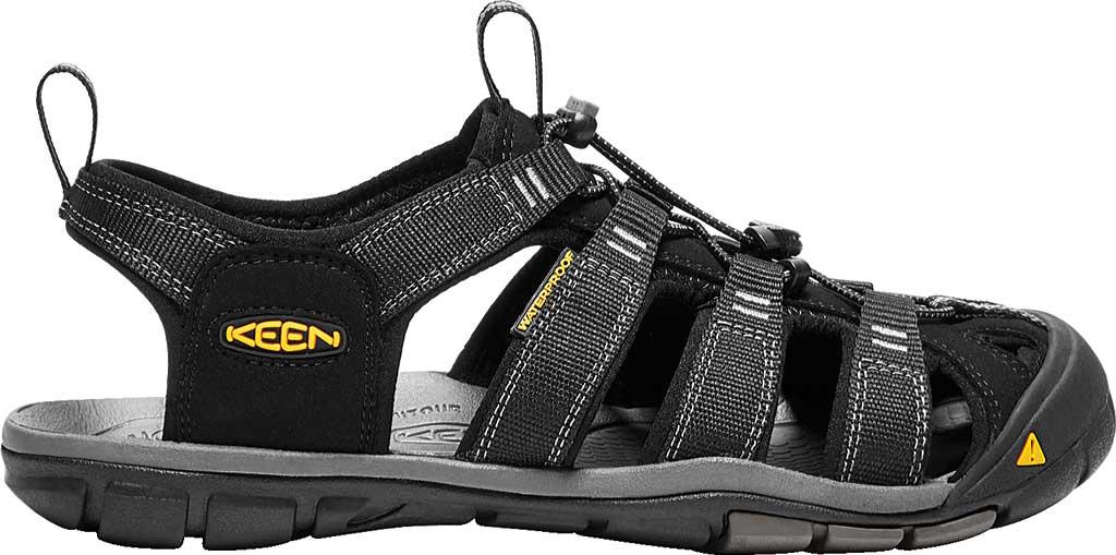 Men's KEEN Clearwater CNX, Black/Gargoyle, large, image 2