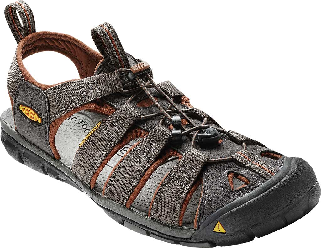 Men's KEEN Clearwater CNX, Raven/Tortoise Shell, large, image 1