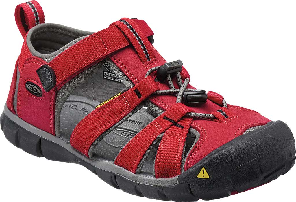 Children's Keen Seacamp II CNX, Racing Red/Gargoyle, large, image 1