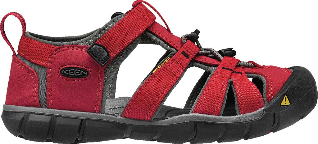 Children's Keen Seacamp II CNX, Racing Red/Gargoyle, large, image 2