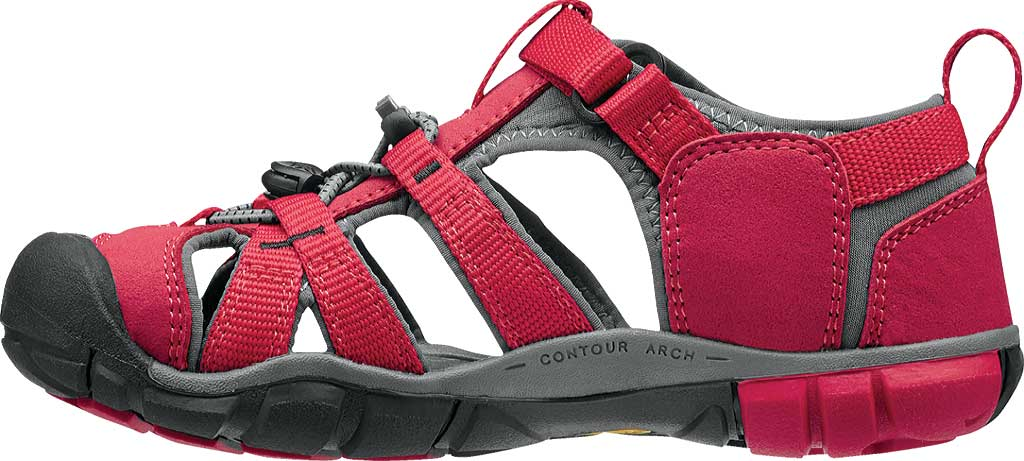 Children's Keen Seacamp II CNX, Racing Red/Gargoyle, large, image 3