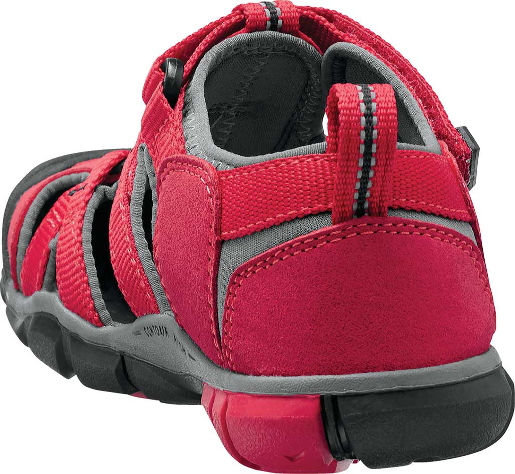 Children's Keen Seacamp II CNX, Racing Red/Gargoyle, large, image 4