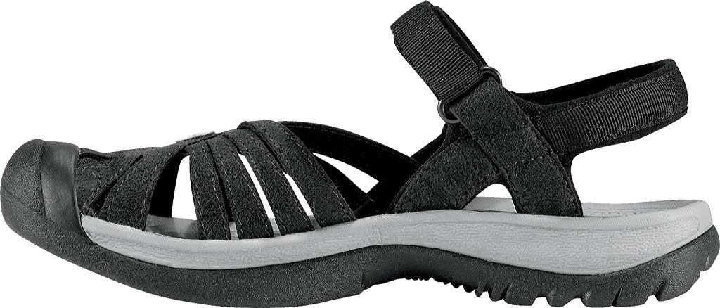 Women's Keen Rose Sandal, Black/Neutral Gray, large, image 3