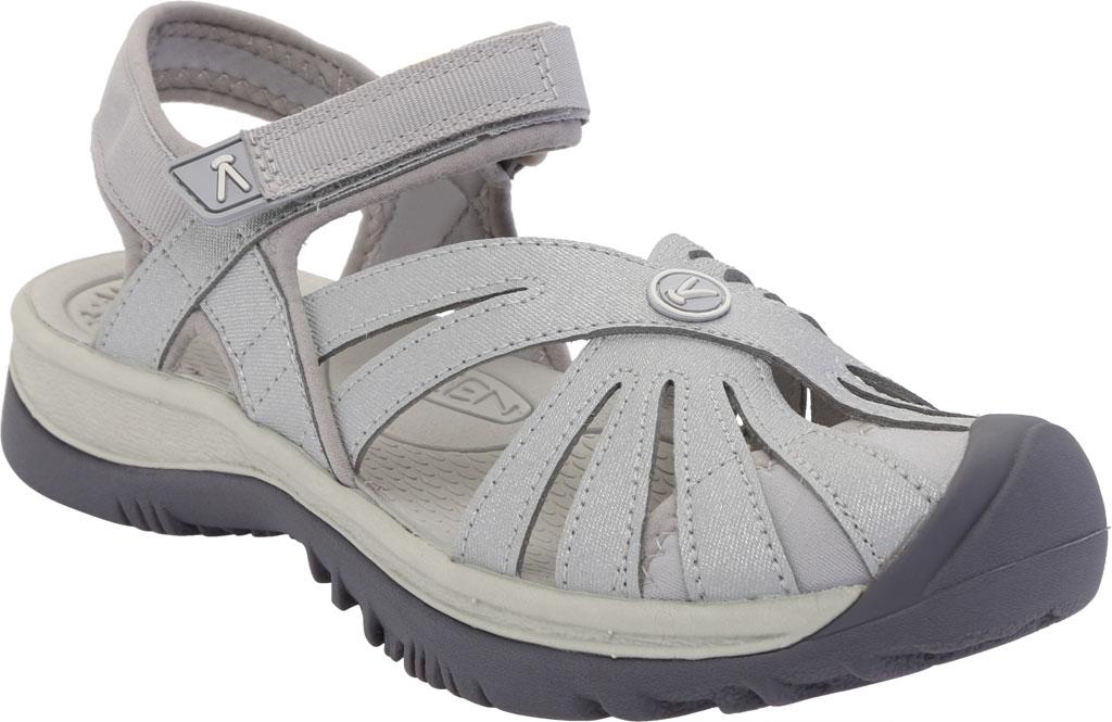 Women's KEEN Rose Sandal, Light Gray/Silver, large, image 1