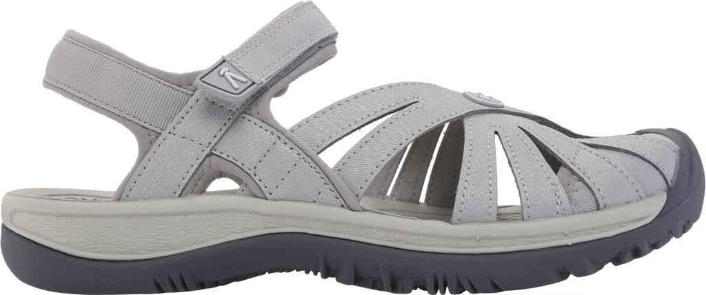 Women's KEEN Rose Sandal, Light Gray/Silver, large, image 2