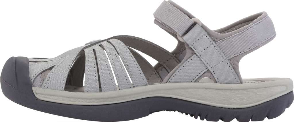 Women's KEEN Rose Sandal, Light Gray/Silver, large, image 3