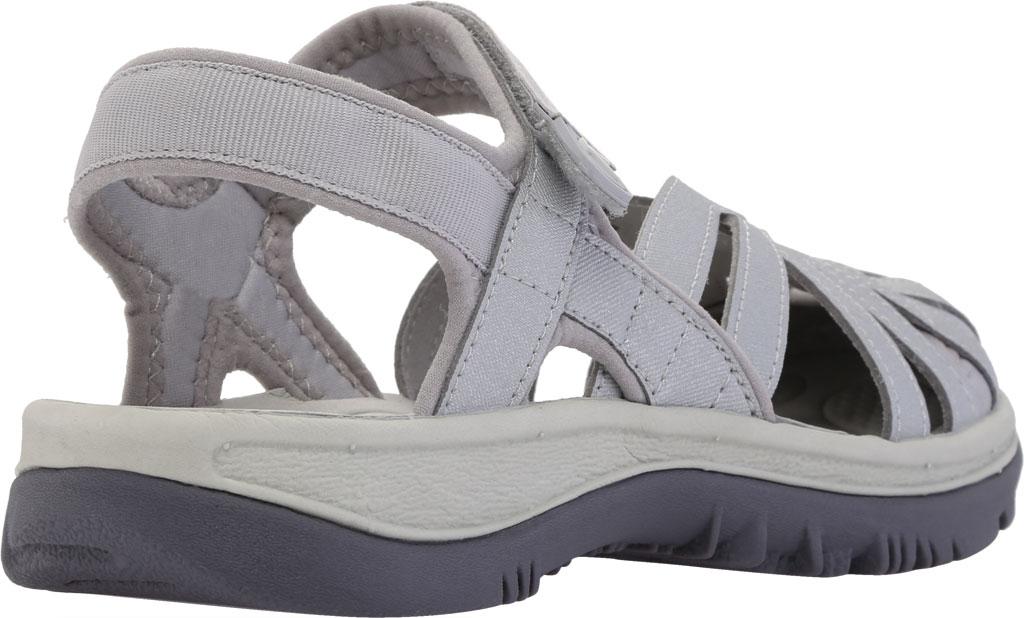 Women's KEEN Rose Sandal, Light Gray/Silver, large, image 4
