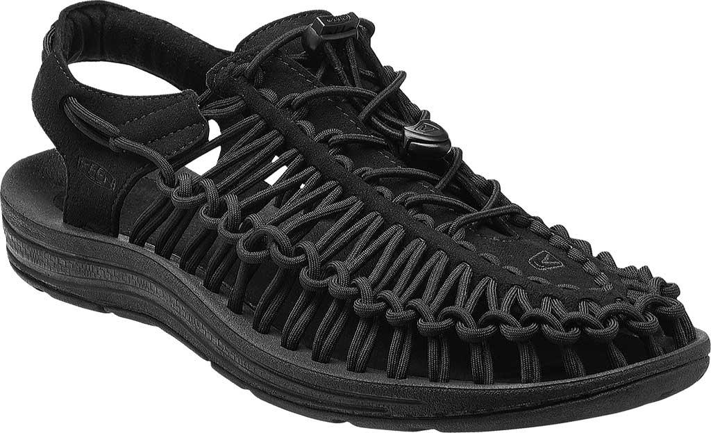Men's KEEN UNEEK Sandal, Black/Black, large, image 1