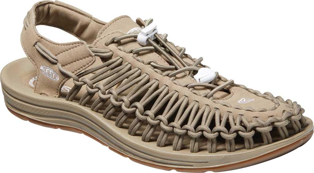 Men's KEEN Uneek Active Sandal, Timberwolf/Plaza Taupe, large, image 1