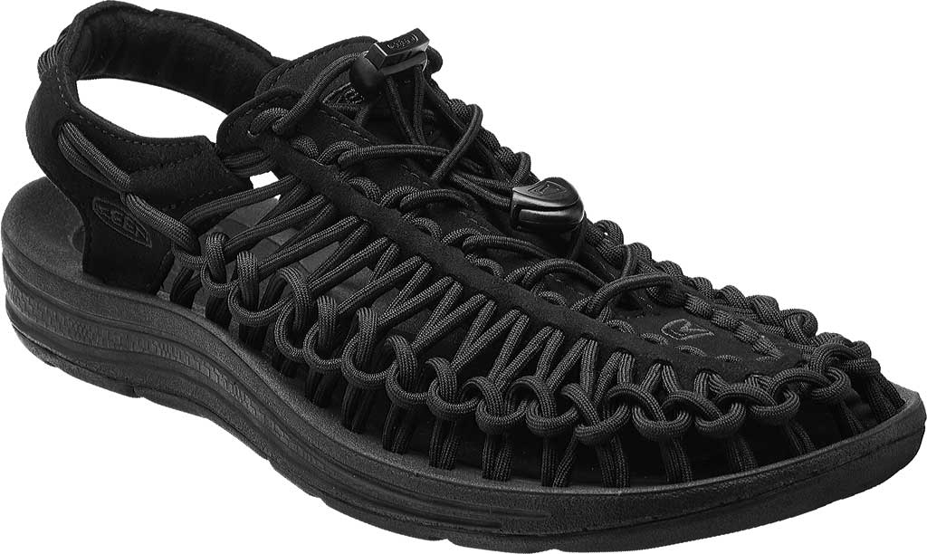 Women's KEEN UNEEK Sandal, Black/Black, large, image 1