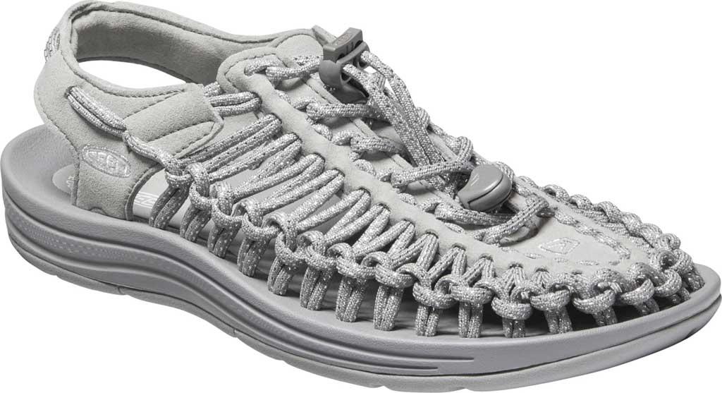 Women's KEEN UNEEK Sandal, Silver/Drizzle, large, image 1