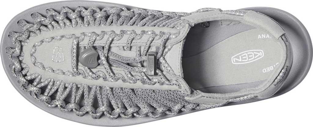 Women's KEEN UNEEK Sandal, Silver/Drizzle, large, image 3