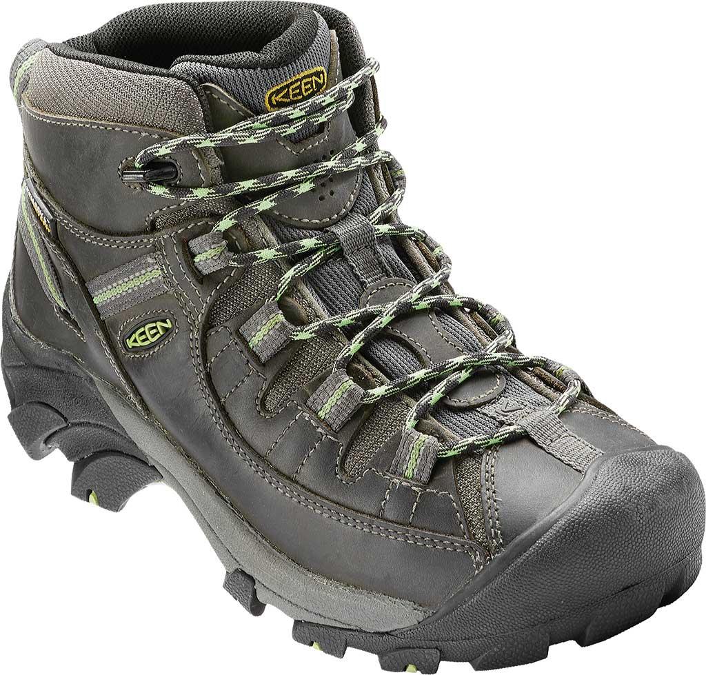 Women's KEEN Targhee II Mid Waterproof Hiking Boot, Raven/Opaline, large, image 1