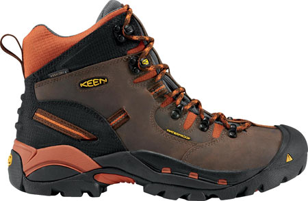 Men's KEEN Utility Pittsburgh Soft Toe Boot, Cascade/Bombay Brown, large, image 2