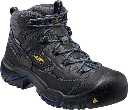 Men's KEEN Utility Braddock Waterproof Mid Soft Toe Boot, Raven/Estate Blue, large, image 1