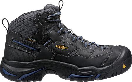 Men's KEEN Utility Braddock Waterproof Mid Soft Toe Boot, Raven/Estate Blue, large, image 2