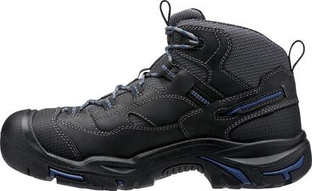 Men's KEEN Utility Braddock Waterproof Mid Soft Toe Boot, Raven/Estate Blue, large, image 3