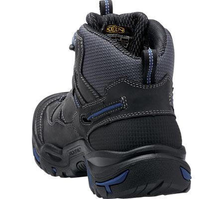 Men's KEEN Utility Braddock Waterproof Mid Soft Toe Boot, Raven/Estate Blue, large, image 4