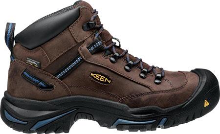 Men's KEEN Utility Braddock Mid All Leather Steel Toe Boot, Bison/Ensign Blue, large, image 2