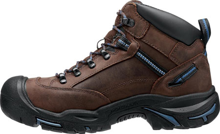 Men's KEEN Utility Braddock Mid All Leather Steel Toe Boot, Bison/Ensign Blue, large, image 3