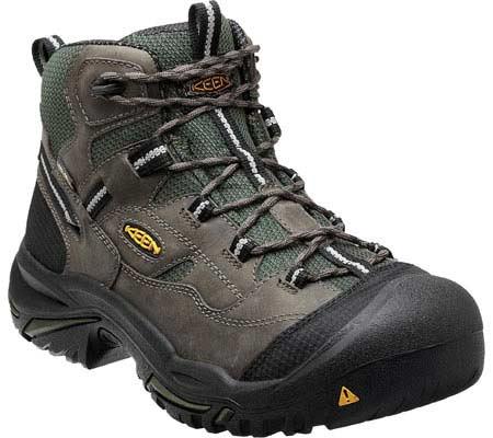 Men's KEEN Utility Braddock Mid Steel Toe Boot, Gargoyle/Forest Night, large, image 1