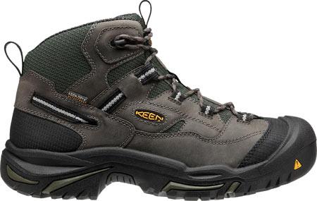 Men's KEEN Utility Braddock Mid Steel Toe Boot, Gargoyle/Forest Night, large, image 2