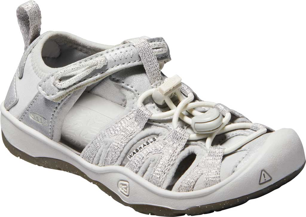 Children's Keen Moxie Closed Toe Sandal - Little Kid, Silver, large, image 1