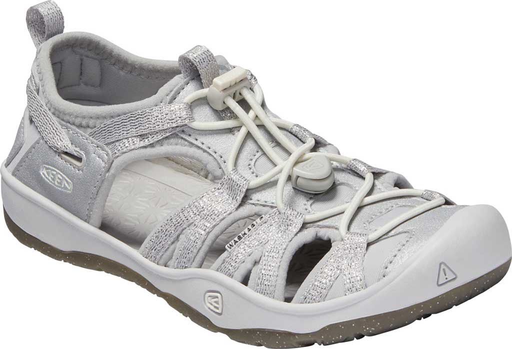 Children's Keen Moxie Closed Toe Sandal - Big Kid, Silver, large, image 1