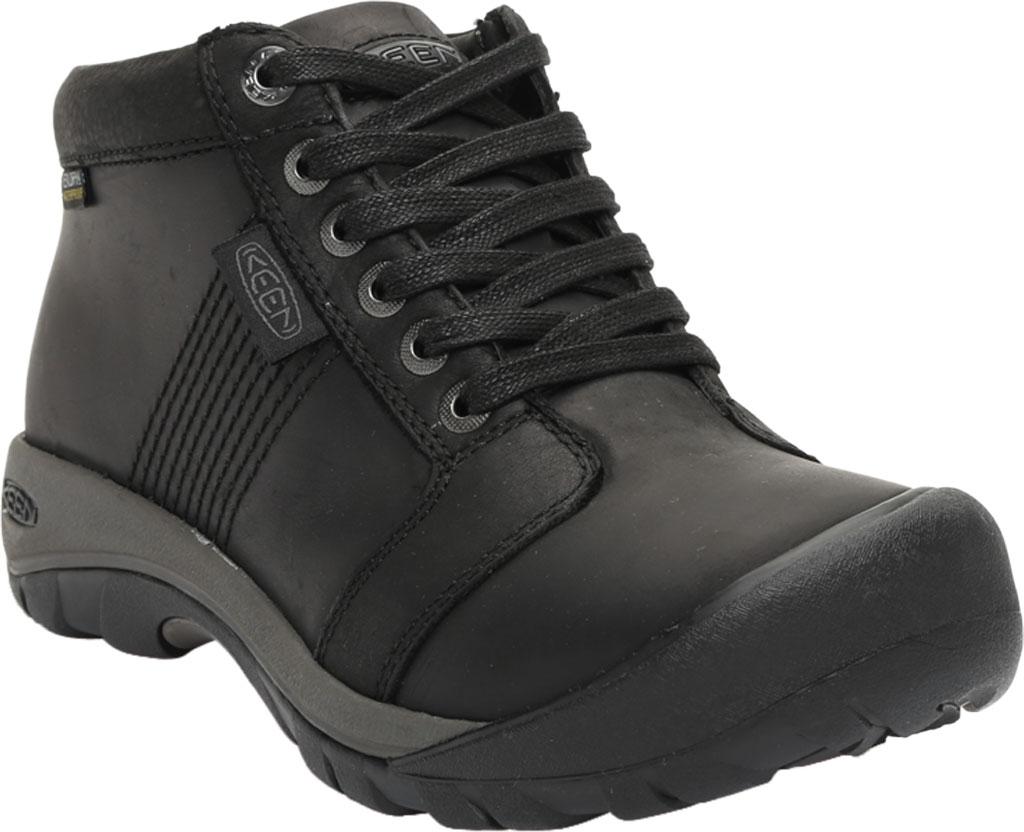 Men's KEEN Austin Mid Waterproof Sneaker, Black/Black, large, image 1