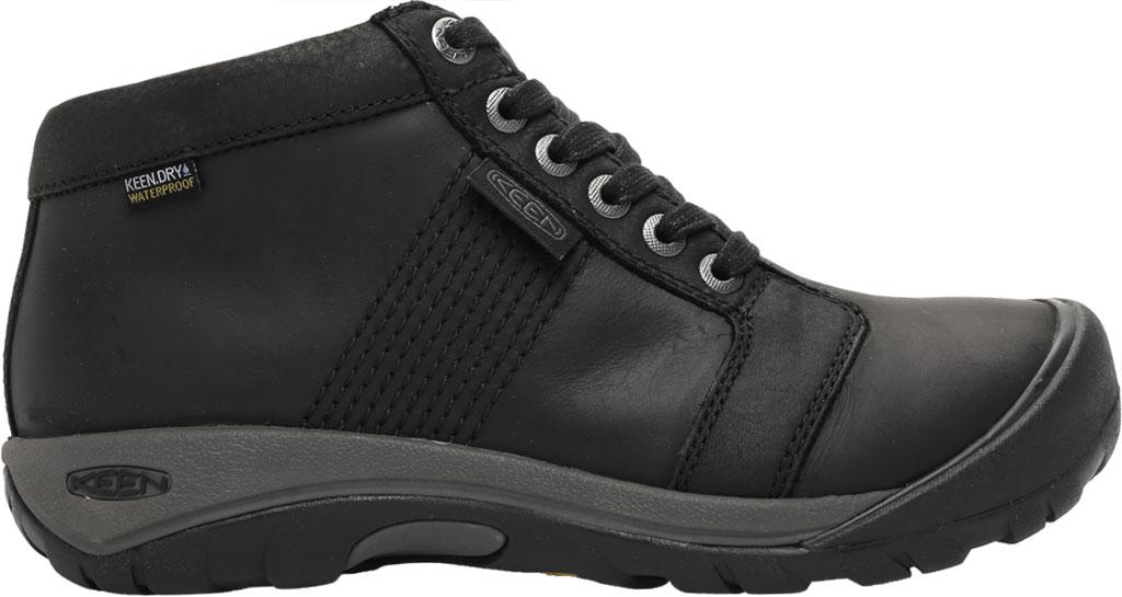 Men's KEEN Austin Mid Waterproof Sneaker, Black/Black, large, image 2