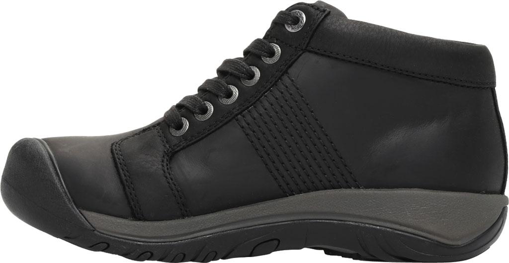 Men's KEEN Austin Mid Waterproof Sneaker, Black/Black, large, image 3