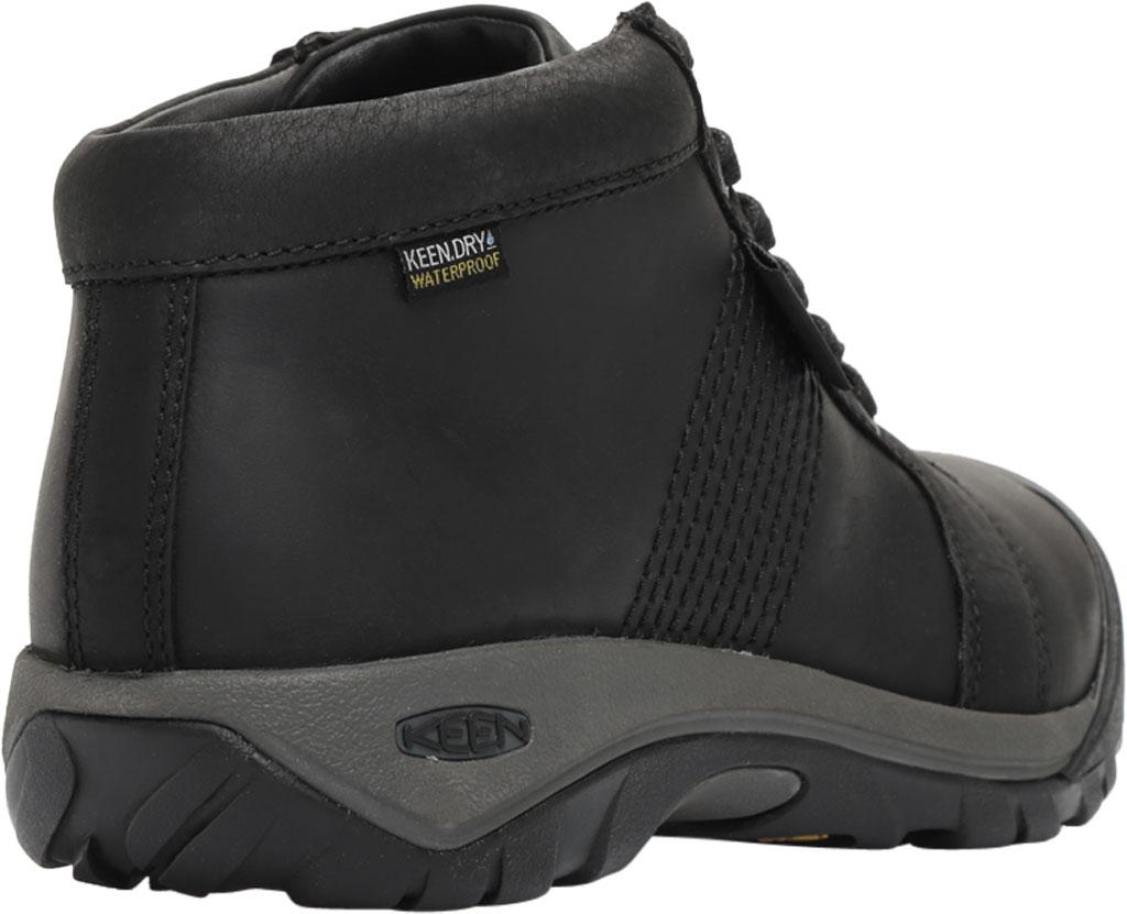Men's KEEN Austin Mid Waterproof Sneaker, Black/Black, large, image 4