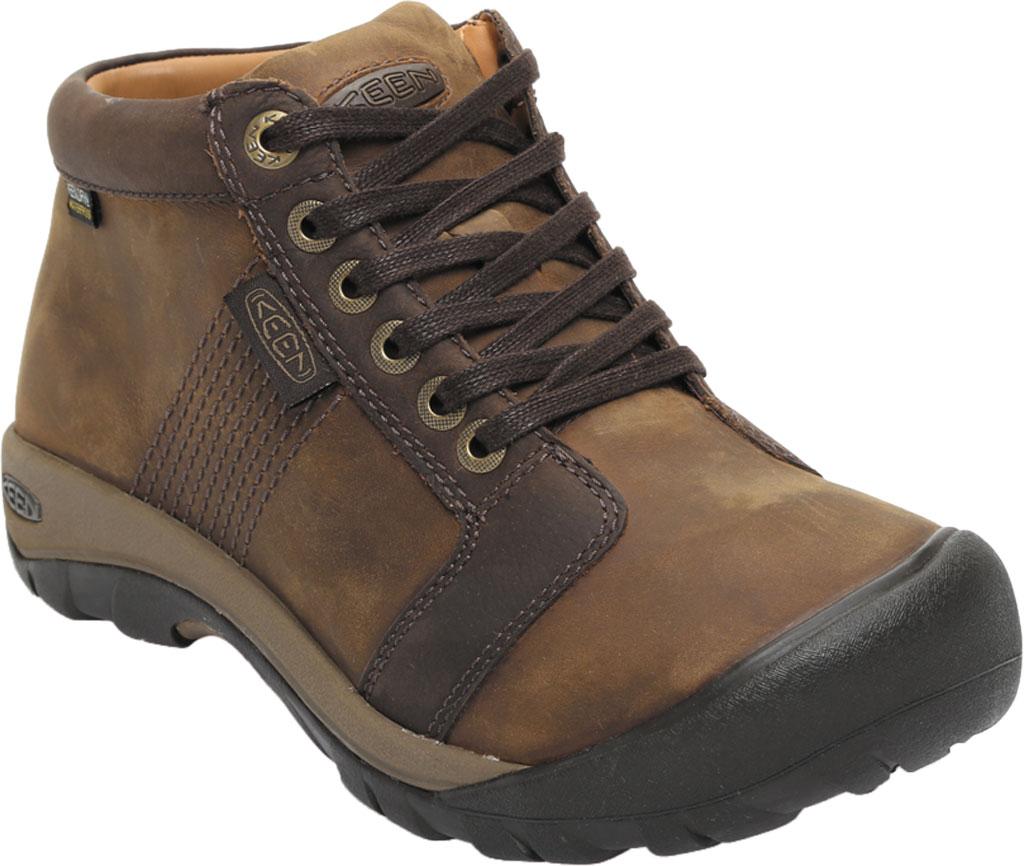 Men's Keen Austin Mid Waterproof Sneaker, Chocolate Brown, large, image 1